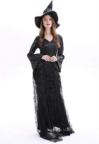 Shisky Costume Cosplay Femme, Jeu de sorcière Noire HalFaibleeen Party Costume Uniforme