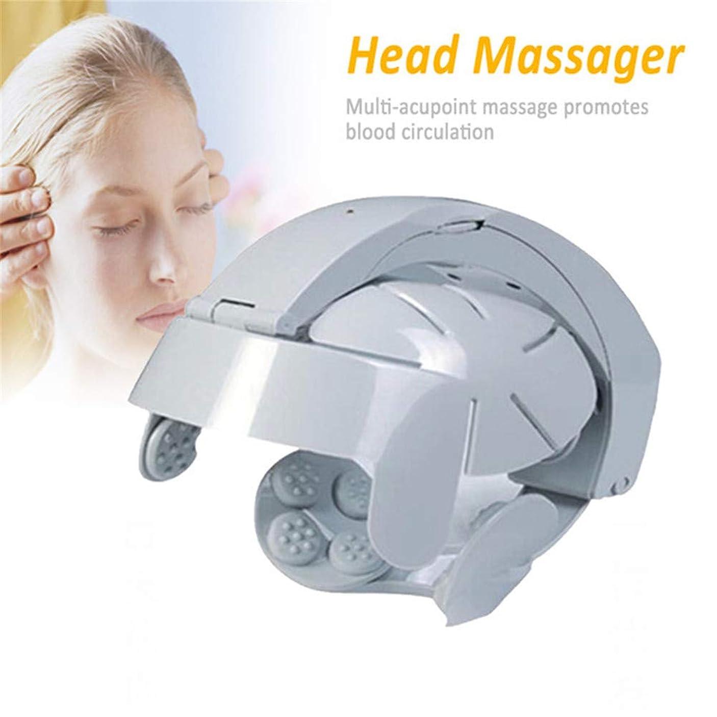 手首にんじん死の顎電動ヘッドマッサージ器指圧ヘルメットヘッドマッサージ器で振動を緩和ストレス神経刺激を緩和して頭痛を和らげます