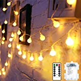 Ventdest Catena Luminosa, 10m Stringa Luci LED a Batteria, 100 LED Luci da Esterno e Inter...