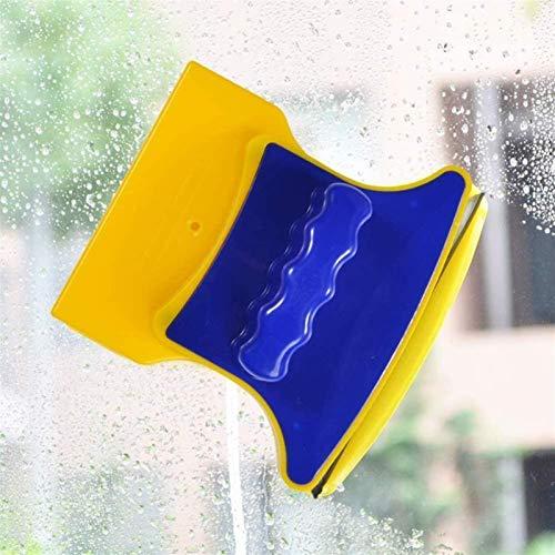 Limpiador de ventanas, conveniente herramienta de limpieza de vidrio de ventana de doble cara: el limpiador de limpieza de vidrio magnético de doble cara cuadrado se puede utilizar para la limpieza