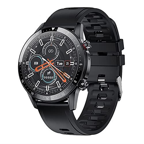 Reloj de música inteligente para hombres, reloj con rastreador de ejercicios con monitor de sueño, pantalla táctil completa de 1.3 pulgadas, IP67 a prueba de agua, adecuado para teléfonos Android y