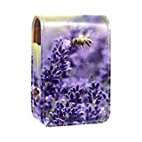 Estuche de lápiz labial con diseño de flores de lavanda morada y malva, para bolso de labios, mini...