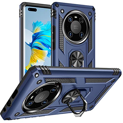 DAWEIXEAU für Huawei Mate 40 Pro Hülle,Handyhülle Hybrid Harte Rüstung Drop Resistance Handys Schutzhülle für Huawei Mate 40 Pro (Dunkelblau)