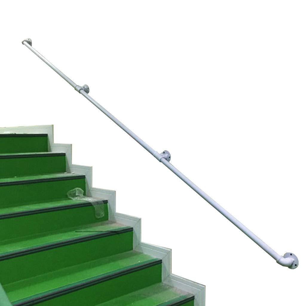 Pasamanos de escalera Bar Industrial Del Tubo De Agua De Escalera Baranda, Contra La Pared De Edad Avanzada Y Niños Indoor Corredor Al Aire Libre Del Ático Barandilla, Escalera De Seguridad Antidesliz: