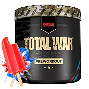 Redcon1 - Total War - Pre Workout,Increase Energy Increase Endurance and Focus Beta-Alanine 350mg Caffeine Citrulline Malate Nitric Oxide Booster - Keto Friendly  Rocket Bomb 30 Servings