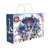 JINGXINA Fate Grand Order Anime Periphery/Gift Tote Bag/Collection Card/Stickers/DIY Stand/Metal Badge/Poster/Hand Strap/Bracket/Sticker/IC Card Set/Message Card/Sketch Paper /