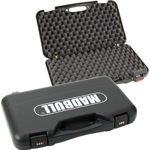 Pistolenkoffer Deluxe mit Zahlenschloss schwarz 50 x 30,5 x 8,5 cm