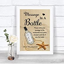 Beach Sand Message in A Bottle Personalized Wedding Sign