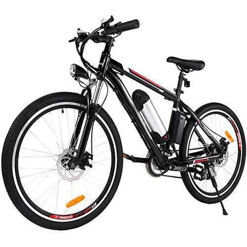 BIKFUN Bicicletta Elettrica, Bici Elettriche MTB da 26' con Batteria al Litio 36V 8Ah, Motore 250W, Shimano 21 velocità E-Bike