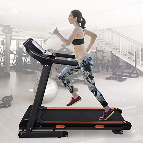 Tidyard Elektrisches Laufband 1,5 HP Electric Treadmill Fitness Machine with LCD Screen 1.5 HP Max. Load 150 kg Exercise Bike.