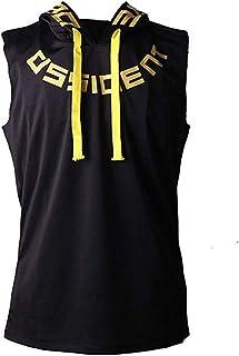 トレーニングウェア メンズ タンクトップ ノースリーブ 筋トレ スポーツウェア ボディビル フィットネスTシャツ トップス マッスルフィット 袖なし フード付き スポーツシャツ ジム ジャージベスト