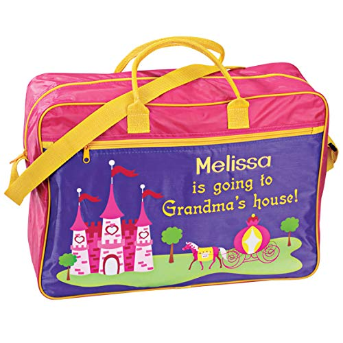 Personalized Girls Going to Grandma's Tote – Fun gift from Grandma – Present for Granddaughter Customize with Childs Name – Pink and Purple