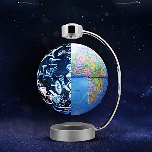 WANNA.ME Magnetschwebebahn Rotierende Sternbildkugel 8 'Beleuchtete Weltkugel Nachtsicht Sterne Rotierende Astronomie Geographische Karte Interaktives Pädagogisches Geschenk für Kinder