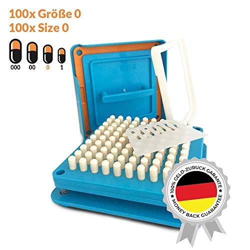 Kapselfüller | Platz für 100 Kapseln | Größe 0 | Kapselfüllgerät zum befüllen von Kapseln