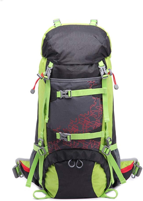 NAMENLOS 50l Ultraleichter Wanderrucksack, Multifunktions Große Kapazität Wasserdichte Wasserdichte Wasserdichte Wanderrucksack, Anzug Für Camping Trekking Radfahren Reise Klettern B07QCY46S4  Aktuelle Form 295427
