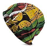NiYoung Fashion Slouchy Beanie Hat Soft Cozy Oversized Baggy Sleep Cap for Women Men, Rastafarian Reggae Style Jamaica Dreadlock Rasta Smoking Lion, Breathable Stretchy Skull Cap
