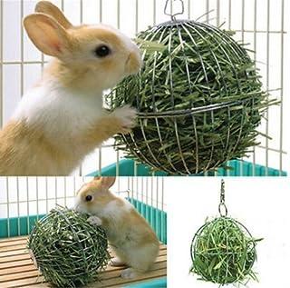 ペット用品 チモシー 給餌ボール 牧草ボウル 牧草入れ 網のボール 吊る 兎用 ハムスター対応