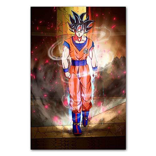 Klassischer Cartoon Anime Dragon Ball Z Super Charakter Goku Poster Comic Leinwand Gemälde Wandbild Kinderzimmer Kinderzimmer Schlafzimmer 60 * 90cm
