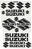 Ecoshirt UU-27BM-02VJ Pegatinas Moto Rgsx Suzuki R170 Stickers Aufkleber Decals Autocollants Adesivi, Negro