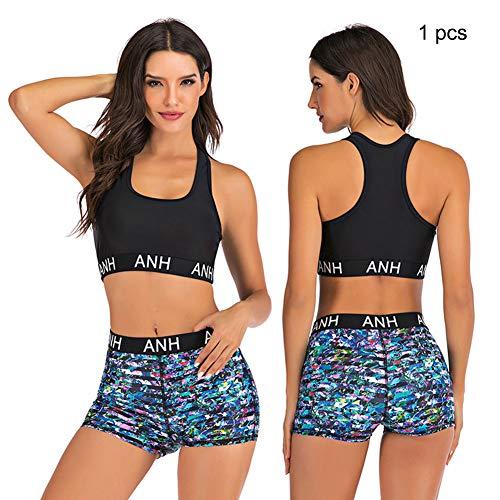 Sport Swimsuit Printed Sexy Bikini, Summer Beach boxershorts Swimming Set, Push-Up Padded Split Swimwear,3,XL