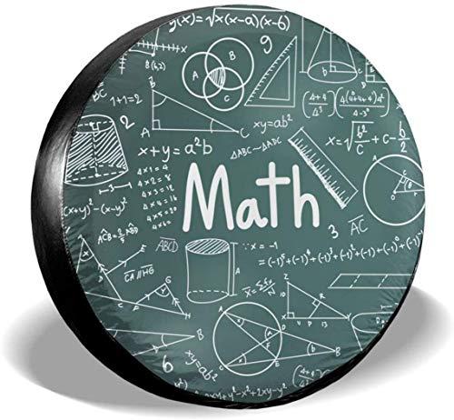MODORSAN Math Mathematical Cubierta de neumático de Rueda de Repuesto de poliéster Cubiertas de Rueda universales para Jeep, Remolque, RV, SUV, camión, Accesorios, 15 Pulgadas
