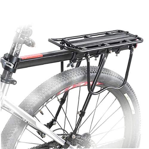Bicicleta De Carretera En Rack W/Logo Reflectante, Universal Ajustable De Bicicletas De Equipaje Trasero, Touring Carrier Bastidores, Bicicleta Desmontable Rack Durable De Montaña Bicicleta De