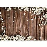 Fondos de fotografía Personalizados de Vinilo tablones de Flores y Madera Tema de Estudio fotográfico Fondo A9 2,1x1,5 m