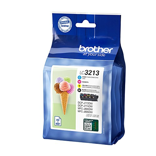 BROTHER LC3213 Cartucho de tinta, Paquete de 4 (negro, amarillo, cian, magenta)