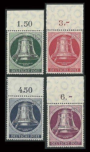 Goldhahn Berlin Nr. 75-79 postfrisch  Glocke Links Oberrandsatz Briefmarken für Sammler