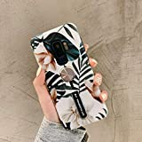 Samsung Galaxy S9 Plus Case for Girls,Hosgor 3D Print Flowers Finger Grip Rugged Shockproof Kickstand Slim Soft TPU + Matte PC Dual Layer Finger Ring Strap Cover for Galaxy S9+(Palm)