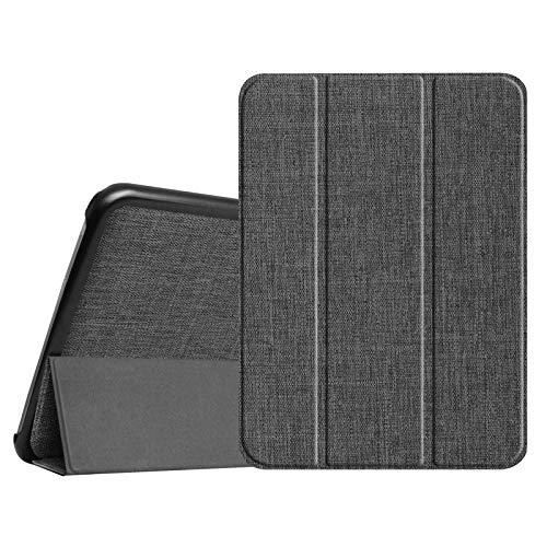 Fintie Hülle für Samsung Galaxy Tab 4 10.1 SM-T530 SM-T535 - Ultra Schlank Superleicht Ständer SlimShell Cover Schutzhülle Etui Tasche mit Auto Schlaf/Wach Funktion, Denim dunkelgrau