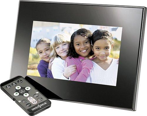 "Insignia - 7"" Widescreen LCD Digital Photo Frame - Black Digital Frames Picture"