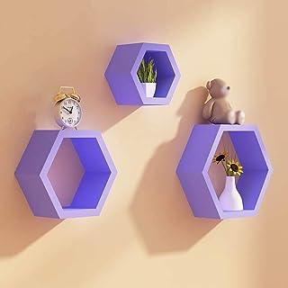 Los estantes flotantes Partition de pared hexagonal Parte de la pared Sala de estar Muro hexagonal Rhombus, estante de la ...