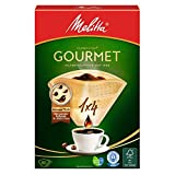 Melitta Gourmet Filtertüten, AromaporenPlus, Naturbraun 4er pack (4 x 80 Stück)