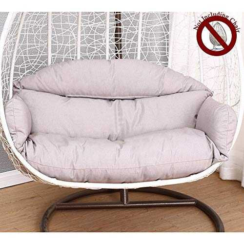 HYXQYYMY Best Seat Cushion,Double Big Cushion Seat,Hanging Chair Cushion with Ergonomic Pillow,Super Soft and Comfortable Swing Chair Cushion,Washable Cotton Linen Cover (Color : Light Gray)
