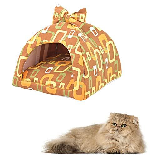 Kat Cave Kitten Bed Luxe Hond Bed Huisdier Bedden Voor Honden Hond Slaapbank Warm Hond Bed Huisdier Bedden Voor Katten Pluizige Hond Bed yellow,m