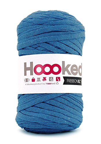 Hoooked Ribbon XL Tape Yarn, Many Colours to Choose From Imperial Blue