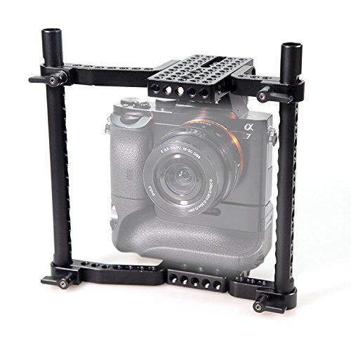 SMALLRIG VersaFrame Cage, Höhenverstellbare Videokamera Käfig für Canon, Nikon, Sony, Panasonic GH3 GH4 GH5-1750