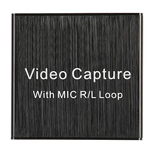 EBTOOLS1 Tarjeta de Captura de Video, 4k USB2.0 HDMI Loop out Tarjeta de Captura Compatible con 1080P, Dispositivo de Tarjeta de Captura para VLC/OBS/Amcap/Win/Android/OS X