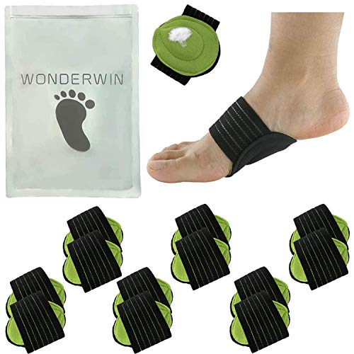 Arch Support,6 Pairs Compression Fasciitis Cushioned Support Sleeves, Plantar Fasciitis Foot Relief Cushions for Plantar Fasciitis, Fallen Arches, Achy Feet Problems for Men and Women