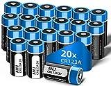 【Lunga Durata CR123A 】 Adottare cella a batteria di alta qualità con 1600mAh grande capacità, dura da 3 a 5 volte più a lungo della normale batteria alcalina. Puoi passare più tempo a goderti la vita e meno a cambiare le batterie, grazie a questa con...