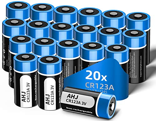 AHJ 20er Pack CR123A Batterien, CR17345 3V Lithium 1600mAh Batterie für Taschenlampe, Intelligente Instrumentierung, Alarmanlagen - Einwegbatterie, Nicht für Arlo