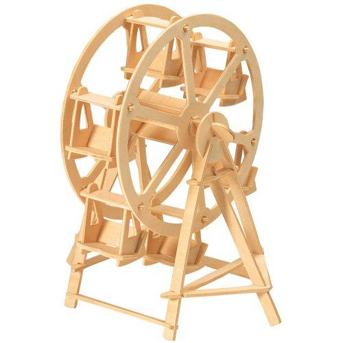 Etna Riesenrad 3D Holzbausatz Jahrmarkt Rummel Fahrgeschäft Steckpuzzle Bauwerk Holzpuzzle P033
