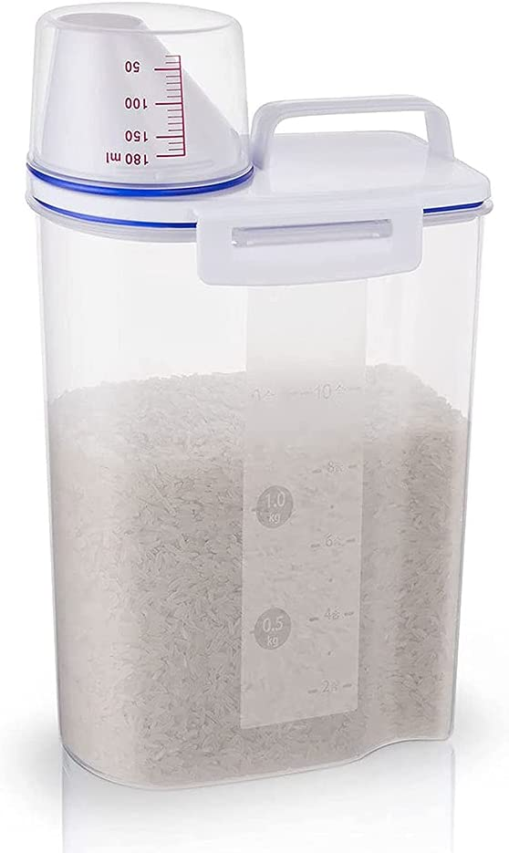 JJINPIXIU Rice Storage Bin Cereal Pet excellence Max 69% OFF Dispenser Food Bo
