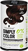Schwarzkopf Simply Color Permanent Hair Color, 3.65 Dark Chocolate
