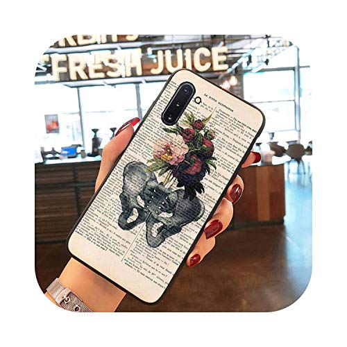 Latest Styles Human Anatomy Organ Newspaper Pattern TPU Soft Phone Case for Samsung Galaxy S9 Plus S3 S6 7 8 9 S10 E S9 Coque Shell-A3-For Galaxy S6edge
