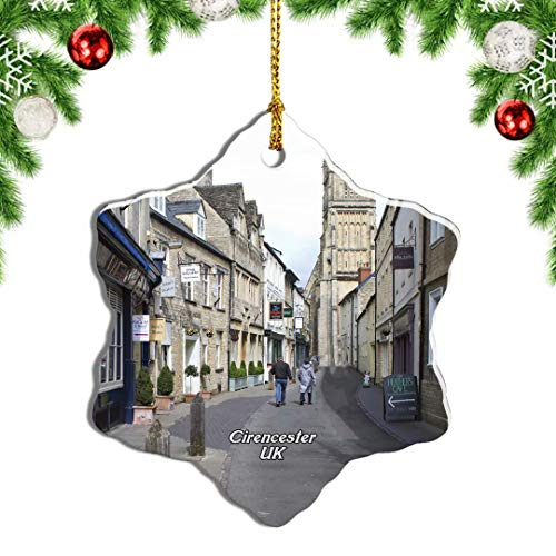 Weekino UK England Cirencester Stree Christmas Ornament Travel Souvenir Tree Hanging Pendant