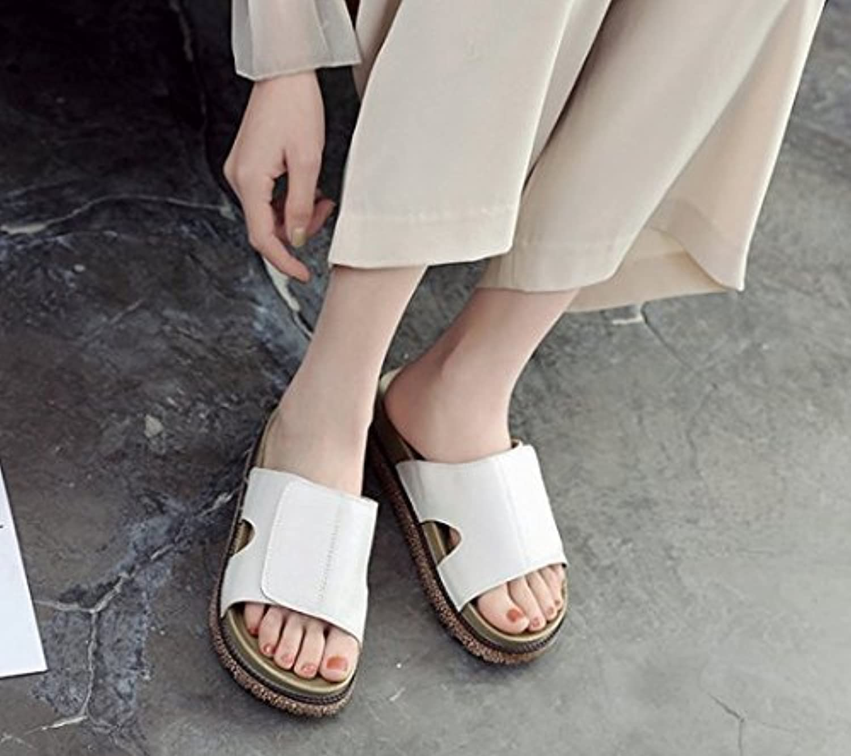 HhGold Frauen Flip-Flops Hausschuhe Dicke Unterseite Urlaub Urlaub Urlaub Oberbekleidung Trittsicher Bequem (Farbe   Weiß, Größe   5.5 US 35.5 EU 3 UK)  47083f