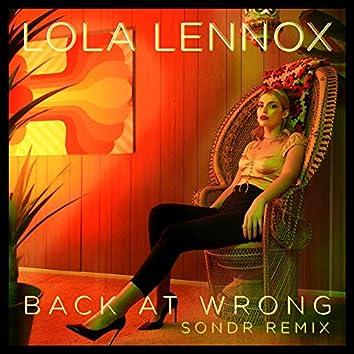 Back At Wrong (Sondr Remix)