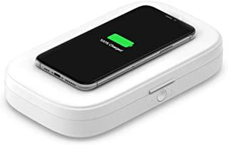 Belkin UV Sanitizer for Phone + Wireless Charger (Kills up to 99% of Bacteria + Fast Wireless Charging) Cleans Phones, Key...
